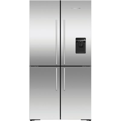 Fisher & Paykel Designer RF605QDUVX1 American Fridge Freezer - Stainless Steel - A+ Rated Best Price, Cheapest Prices