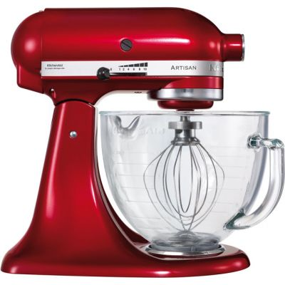 KitchenAid Artisan 5KSM156BCA Stand Mixer with 4.8 Litre Bowl - Candy Apple Red Best Price, Cheapest Prices