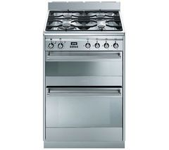 SMEG Concert 60 Dual Fuel Cooker - Stainless Steel Best Price, Cheapest Prices