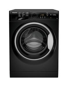 Hotpoint Nswm943Cbs 9Kg Load, 1400 Spin Washing Machine - Black Best Price, Cheapest Prices