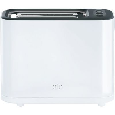 Braun PurEase Series 3 HT3000WH 2 Slice Toaster - White Best Price, Cheapest Prices