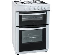 LOGIK LFTG60W16 60 cm Gas Cooker - White Best Price, Cheapest Prices