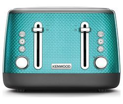 KENWOOD Mesmerine TFM810BL 4-Slice Toaster - Blue Best Price, Cheapest Prices