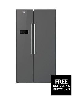 Hoover HSBSF178XK 90.8cm Total No Frost 2Door American Style Fridge Freezer - Stainless Steel Best Price, Cheapest Prices