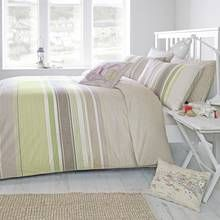 Dreams N Drapes Falmouth Green Duvet Cover - Double Best Price, Cheapest Prices