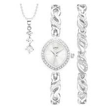 Limit Ladies' Silver Colouerd 3 Piece Watch Gift Set Best Price, Cheapest Prices