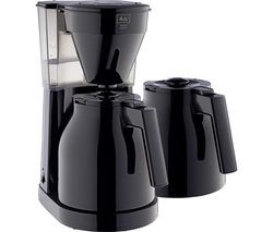 MELITTA Easy Top Therm II Filter Coffee Machine with Spare Jug - Black Best Price, Cheapest Prices