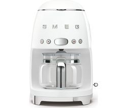 SMEG 50's Retro DCF02WHUK Filter Coffee Machine - White Best Price, Cheapest Prices