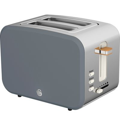 Swan Nordic ST14610GRYN 2 Slice Toaster - Grey Best Price, Cheapest Prices