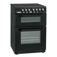 Servis SCF60K 60cm Double Oven Electric Cooker With Ceramic Hob - Black Best Price, Cheapest Prices