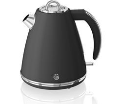 SWAN Retro SK19020BN Jug Kettle - Black Best Price, Cheapest Prices