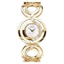 Seksy Ladies' White Dial Gold Colour Bracelet Watch Best Price, Cheapest Prices