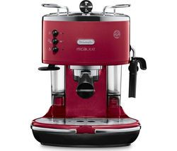 DELONGHI Icona Micalite ECOM 311.R Coffee Machine - Red Best Price, Cheapest Prices