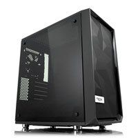 Fractal Design Meshify C Mini Dark TG, MicroATX Tower Computer Chassis, w/ Tempered Glass Window, mATX/mITX, 2x120mm Fan Best Price, Cheapest Prices