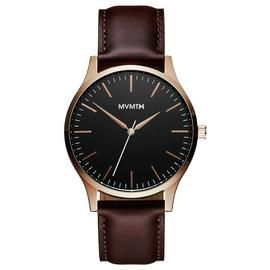 MVMT Men's 40 Series Brown Leather Strap Watch Best Price, Cheapest Prices