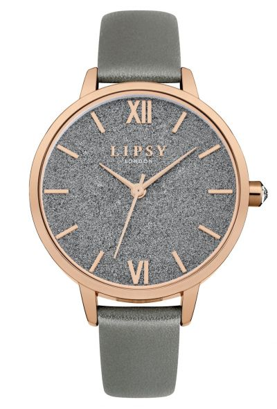 Lipsy Metallic Grey Faux Leather Strap Watch Best Price, Cheapest Prices