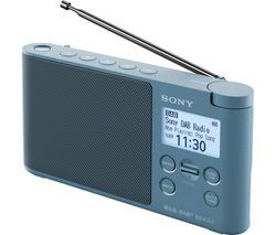 SONY XDR-S41D Portable DAB+/FM Clock Radio - Blue Best Price, Cheapest Prices