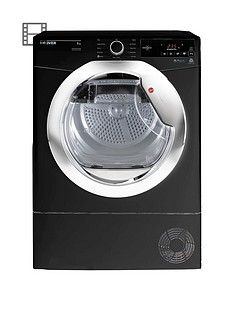 Hoover Dynamic Next Dxc9Tceb 9Kg Load Aquavision Condenser Tumble Dryer With One Touch - Black/Chrome Best Price, Cheapest Prices