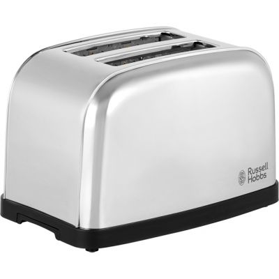 Russell Hobbs Dorchester 18784 2 Slice Toaster - Polished Stainless Steel Best Price, Cheapest Prices