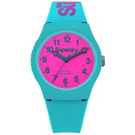 Superdry Ladies Teal Blue Silicone Strap Watch Best Price, Cheapest Prices