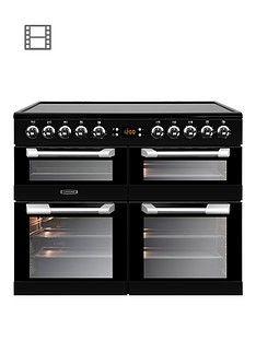 Leisure CS100C510K Cuisinemaster 100cm Electric Range Cooker with Ceramic Hob and Optional Connection – Black Best Price, Cheapest Prices