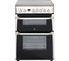 INDESIT ID60C2XS 60 cm Electric Ceramic Cooker - Stainless Steel Best Price, Cheapest Prices
