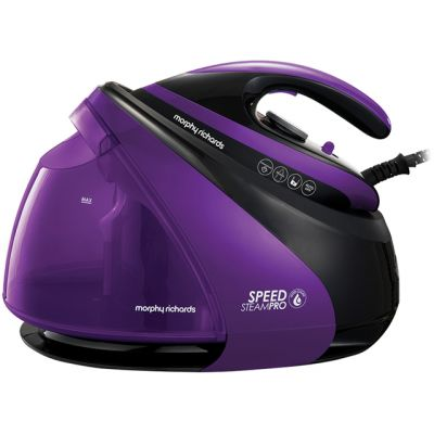 Morphy Richards Auto Clean Speed Steam Pro Pressurised 332100 3000 Watt Iron -Black / Purple Best Price, Cheapest Prices