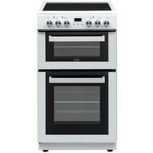 Bush DHBFEDC50W 50cm Double Oven Electric Cooker - White Best Price, Cheapest Prices