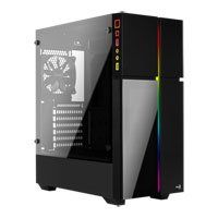Aerocool Playa Mid Tower Gaming Chassis, Tempered Glass, 120mm Fan, USB 3.0, ATX/MicroATX/Mini-ITX Best Price, Cheapest Prices