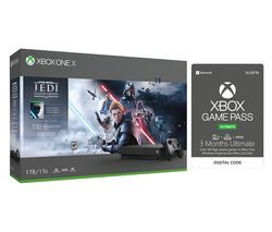 MICROSOFT Xbox One X, Star Wars Jedi: Fallen Order Deluxe Edition & Xbox One Game Pass Bundle Best Price, Cheapest Prices
