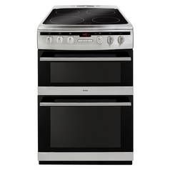 Amica AFC6550SS 60cm Double Oven Electric Cooker - S/ Steel Best Price, Cheapest Prices