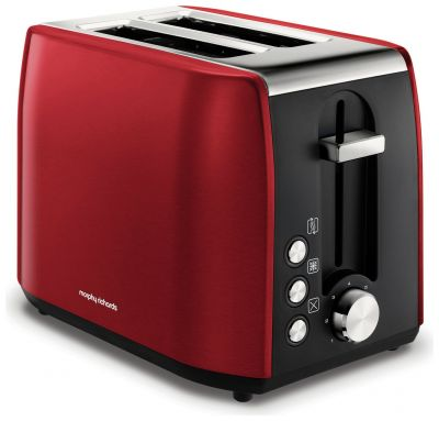 Morphy Richards 222060 Equip 2 Slice Toaster - Red Best Price, Cheapest Prices