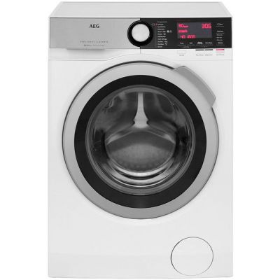 AEG OkoMix Technology L8FEC866R 8Kg Washing Machine with 1600 rpm - White - A+++ Rated Best Price, Cheapest Prices