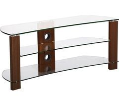 TTAP Vision Curve 1000 TV Stand - Walnut Best Price, Cheapest Prices