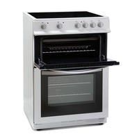 Montpellier MDC600FW 60cm Double Oven Electric Cooker with Ceramic Hob - White Best Price, Cheapest Prices