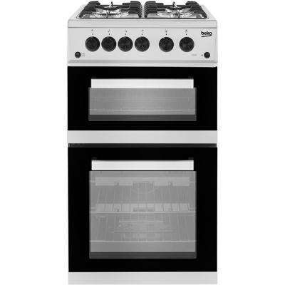 Beko KDG582S Gas Cooker with Full Width Gas Grill - Silver - A+ Rated Best Price, Cheapest Prices