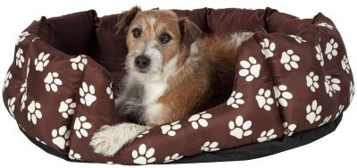 Paw Print Oval Pet Bed - Large Best Price, Cheapest Prices