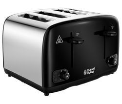 RUSSELL HOBBS Cavendish 24093 4-Slice Toaster - Black Best Price, Cheapest Prices
