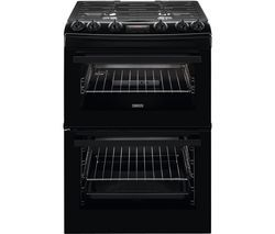 ZANUSSI ZCG63260BE 60 cm Gas Cooker - Black Best Price, Cheapest Prices