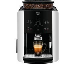 KRUPS Arabica Manual Espresso EA811840 Bean to Cup Coffee Machine - Black & Silver Best Price, Cheapest Prices