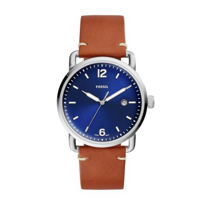 Fossil Men's Commuter Brown Leather Strap Watch Best Price, Cheapest Prices