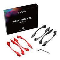EVGA Red/Black Trim Kit for EVGA GeForce RTX 20-Series Dual Fan Graphics Cards, Inc. 4x Red Trims & 4x Black Trims Best Price, Cheapest Prices