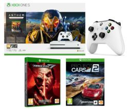 MICROSOFT Xbox One S with Anthem, Project Cars 2, Tekken 7 & Wireless Controller Bundle Best Price, Cheapest Prices