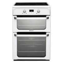 Hotpoint HUI612P Ultima 60cm Double Oven Electric Cooker With Induction Hob - Polar White Best Price, Cheapest Prices