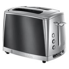 Russell Hobbs 23221 Luna 2 Slice Grey Toaster - Grey Best Price, Cheapest Prices