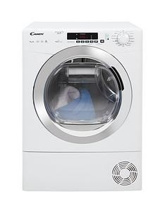 Candy Grand'O Vita Gvsh9A2Dce 9Kg Load, Heat Pump, Sensor Tumble Dryer With Smart Touch - White/Chrome Best Price, Cheapest Prices