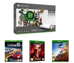 MICROSOFT Xbox One X, 3-Month Game Pass, Live Gold Membership, Tekken 7, Project Cars 2 & Forza Horizon 4 Bundle - 1 TB Best Price, Cheapest Prices