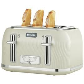 Breville VTT891 Flow 4 Slice Toaster - Cream Best Price, Cheapest Prices