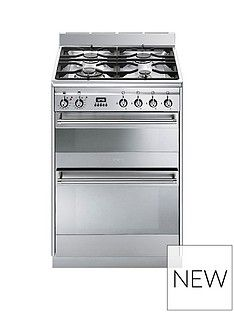 Smeg SUK62MX8 60cmWide Concert Dual Cavity Dual Fuel Cooker - Stainless Steel Best Price, Cheapest Prices