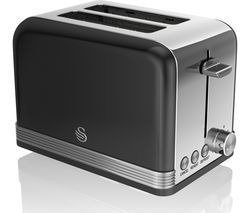SWAN ST19010BN 2-Slice Toaster - Black Best Price, Cheapest Prices